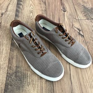 Polo Ralph Lauren Washed Twill Vaughn Sneakers